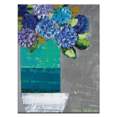 Artist Lane Nicole S Hydrangea Pot By Anna Blatman Painting Print On Wrapped Canvas