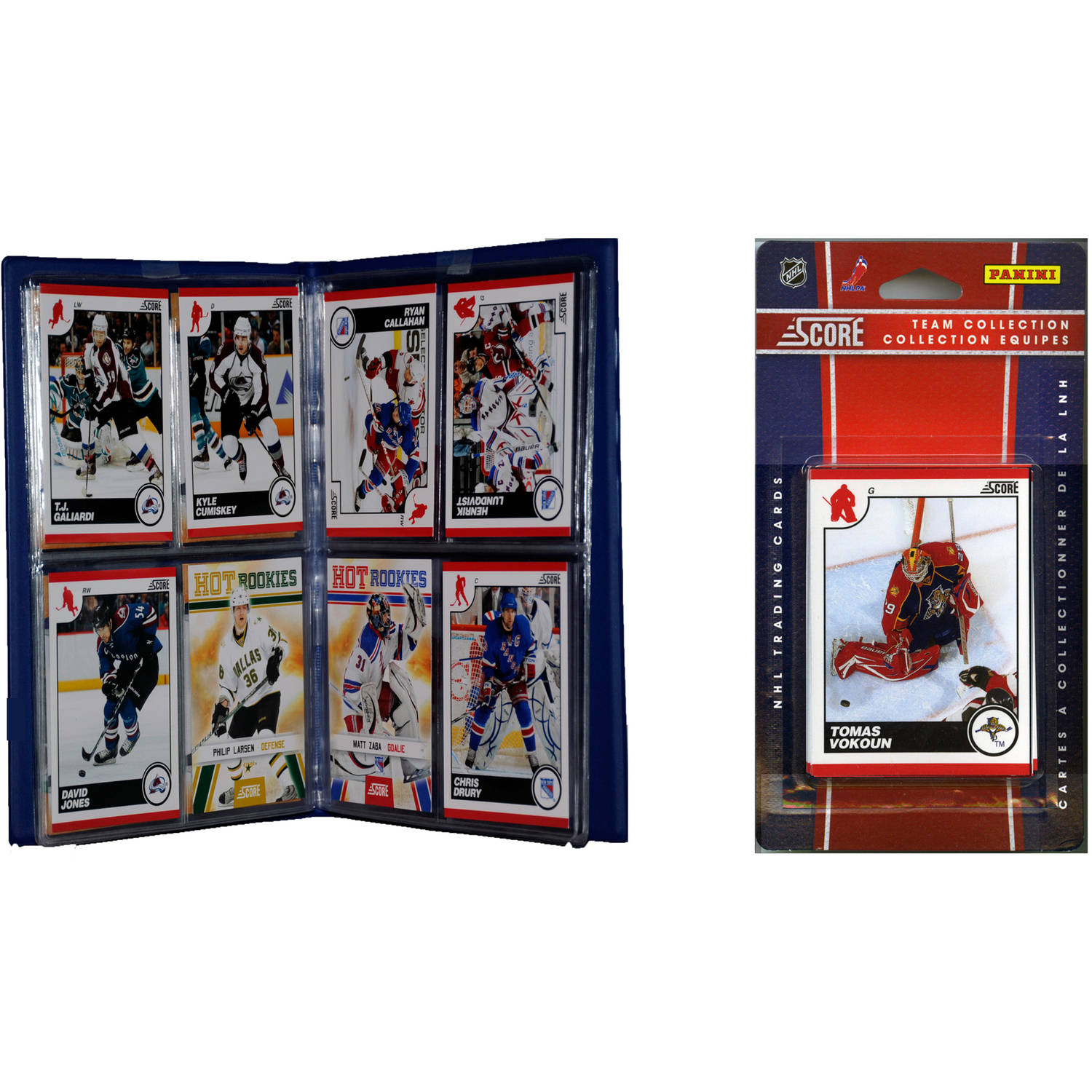 C&I Collectables NHL Florida Panthers Licensed 2010 Score Team Set and Storage Album