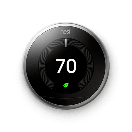 Google Nest Learning Thermostat, 3rd Gen, Stainless - Mitsubishi Thermostat