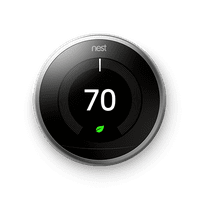 Google Nest Learning Thermostat- 3rd Generation- Stainless Steel