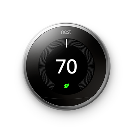 Google Nest Learning Thermostat- 3rd Generation - Stainless Steel