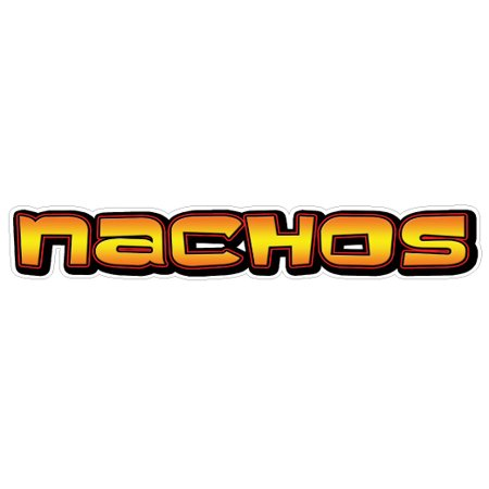 NACHOS I Concession Decal mexican nacho cart stand sign](Halloween Concession Stand Names)