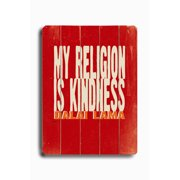 Artehouse LLC My Religion by Lisa Weedn Textual Art Plaque