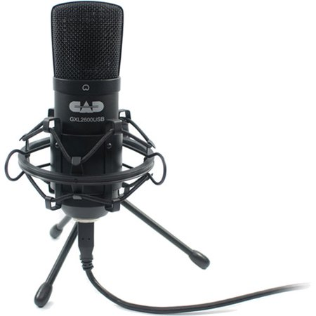 - Premium USB Large Diaphragm Cardioid Condenser Microphone with Tripod Stand, 10' USB Cable