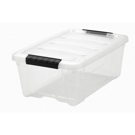 IRIS 12 Quart Stack & Pull™ Box, Clear, Single Unit
