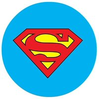 "Superman Logo Edible Image Photo 8"" Round Cake Topper Sheet Personalized Custom Customized Birthday Party"