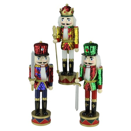 Nutcracker Factory 3 Piece Decorative Sequin Jacket Christmas Nutcracker
