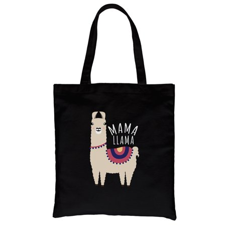 Magma Bags - Mama Llama Black Heavy Cotton Canvas Bag For Mother's Day Gifts