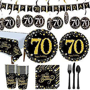 70th Birthday Decorations /& Supplies Personalised Canvas Party Banner Supplies