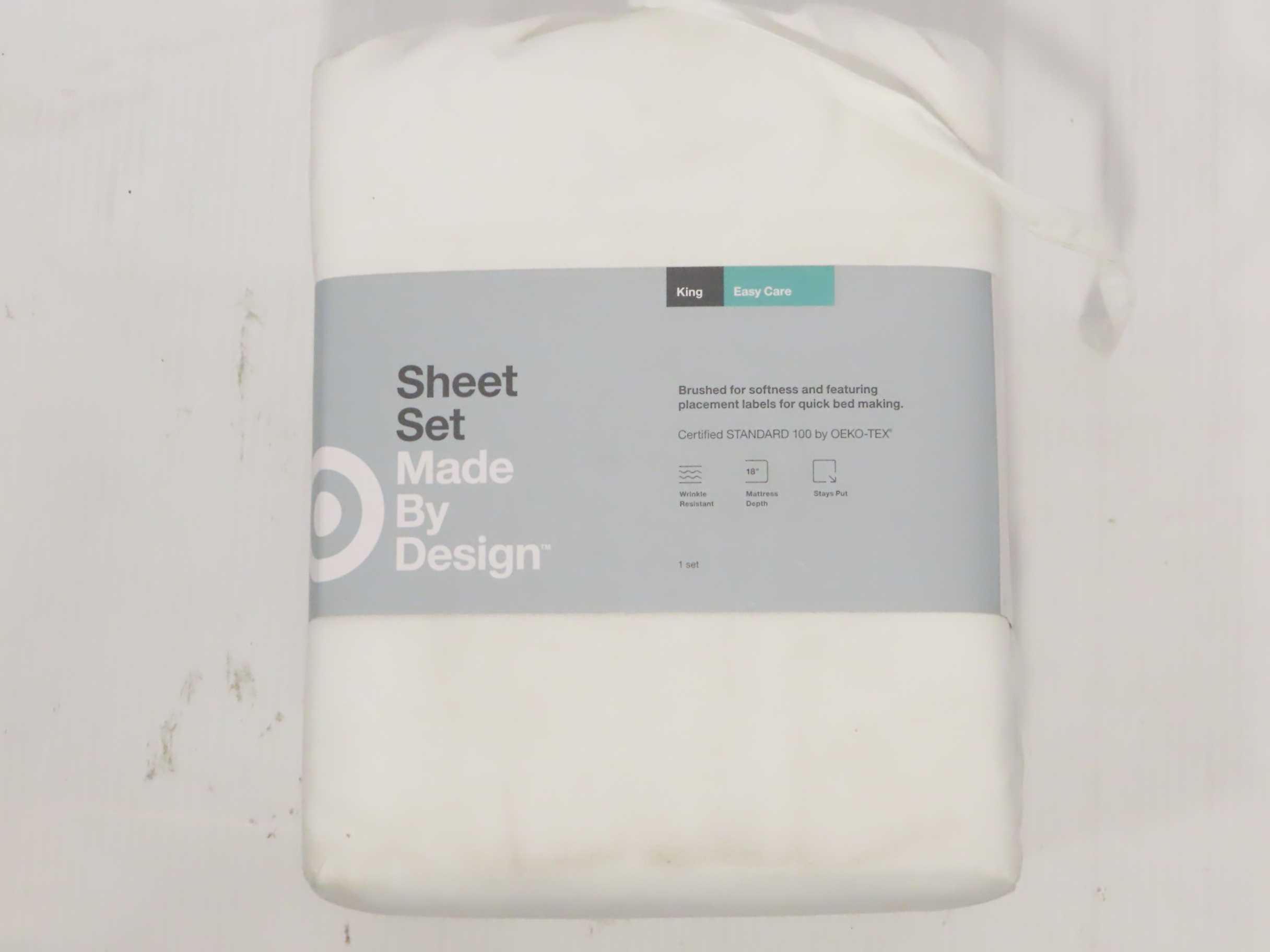 Twin//Twin XL Solid Easy Care Sheet Set Made By Design Gray