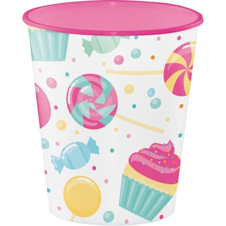 Creative Converting Candy Bouquet Plastic Cups, 12 - Garden Bouquet Cup