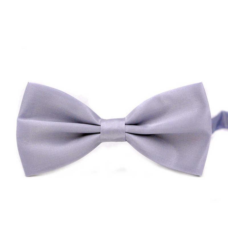 Men's Adjustable Wedding Party Bow Tie Solid Color Pre-Tied Bowtie Neckwear - image 6 of 7