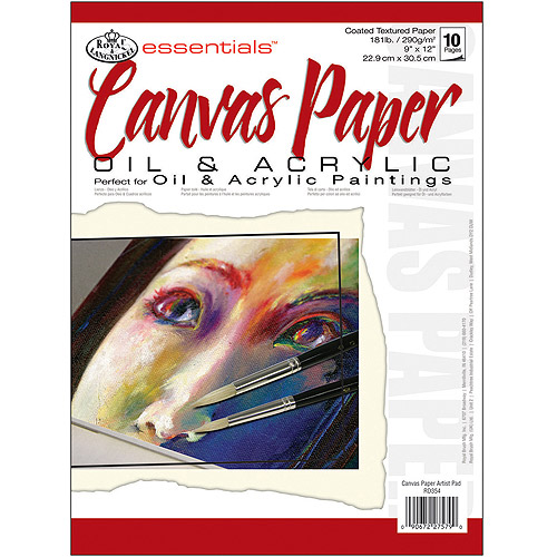 "Royal Brush Essentials Artist Paper Pad, 9"" x 12"", Canvas, 10 Sheets"