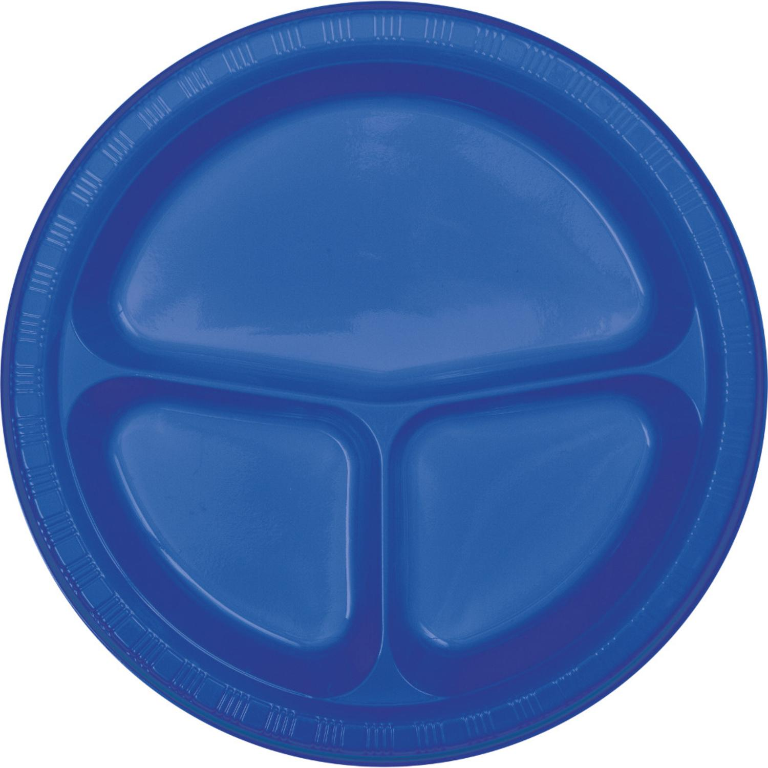 Club Pack of 200 Cobalt Blue Compartment Dinner Party Plates 10.25   sc 1 st  Walmart.com & Club Pack of 200 Cobalt Blue Compartment Dinner Party Plates 10.25 ...