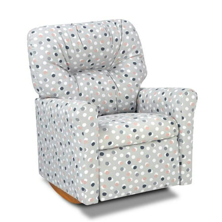 Dozydotes 15015 Contemporary Kids Rocker Recliner Chair, Free Dot French Grey