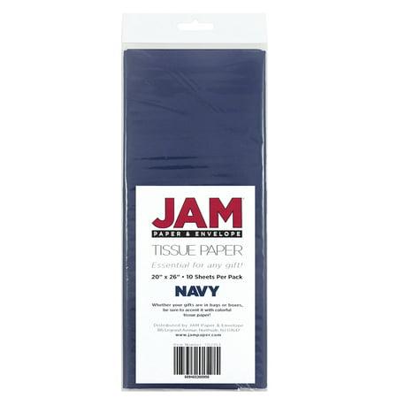 JAM Paper Tissue Paper, Navy Blue, 10 -