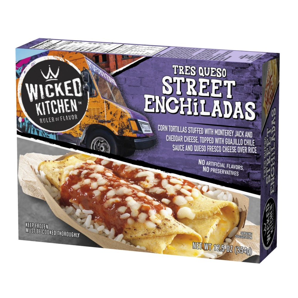 wicked kitchen tres queso street enchiladas 125 oz walmartcom - Wicked Kitchen