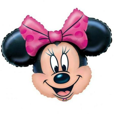 Minnie Mouse Head Supershape Foil Balloon, Minnie mouse foil balloon By - Minnie Mouse Head Balloons