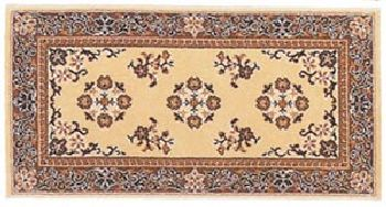 25'' x 56'' Beige Oriental Virgin Wool Hearth Rug by Shop Chimney