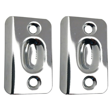 Designers Impressions Polished Chrome Replacement Strike Plates For Ball Catches (Pair): PL-005 Ball Catch Net