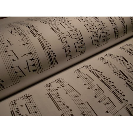 LAMINATED POSTER Music Background Treble Clef Scores Composing Poster Print 24 x 36