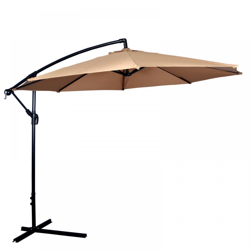 10' Patio Umbrella Offset Hanging Umbrella Outdoor Market Umbrella D10 by