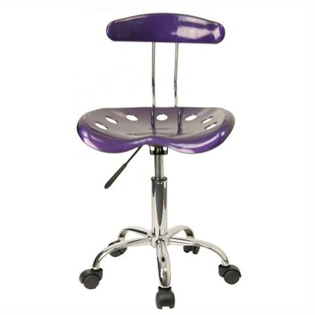 Scranton & Co Office Chair in Violet and Chrome - image 4 of 4