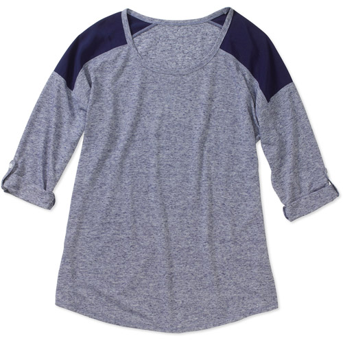 Faded Glory Women's Fashion Baseball T-Shirt