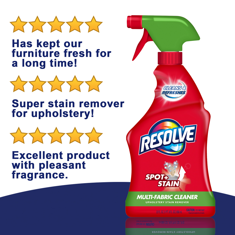 Resolve Upholstery Cleaner U0026 Stain Remover, 22oz Bottle, Multi Fabric  Cleaner   Walmart.com