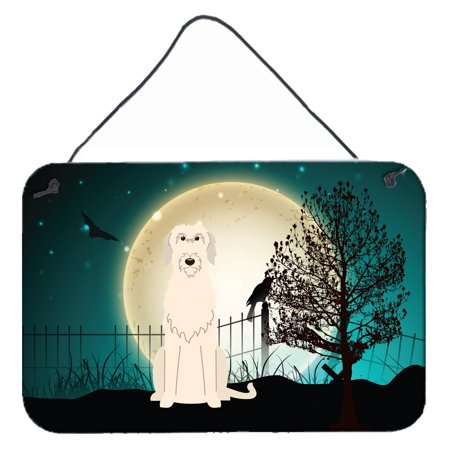 Halloween Scary Irish Wolfhound Wall or Door Hanging Prints BB2255DS812](Scary Halloween Signs Sayings)