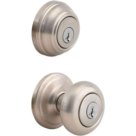 Kwikset 991 Juno Entry Knob and Single Cylinder Deadbolt Combo Pack fe