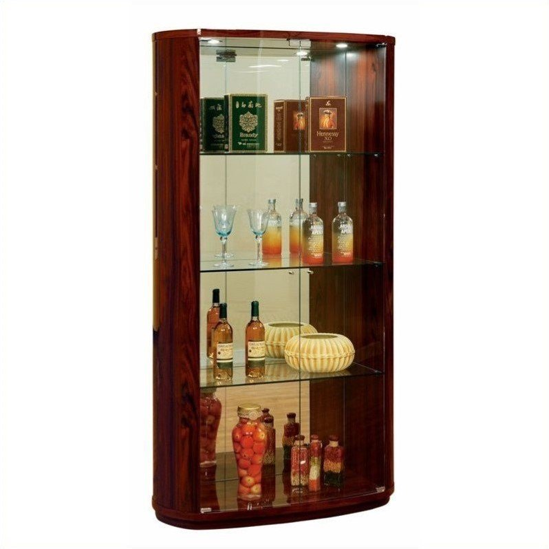 Global Furniture D92 Vertrina Curio Cabinet in Kokuten by Global Furniture USA