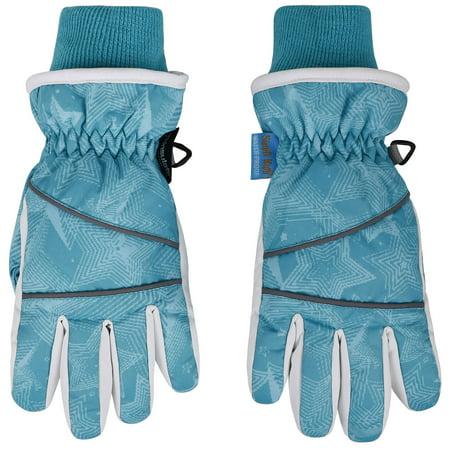 Simplikids Boys Waterproof 3M Thinsulate Winter Ski   Snowboard Gloves  L Blue