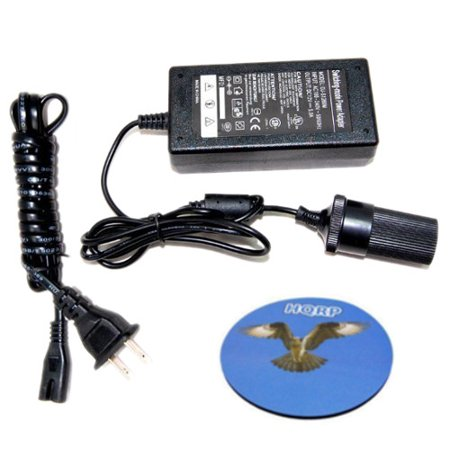 Flash A D Converter - HQRP AC Adapter 110V to 12V DC 5Amp Converter for Rechargeable Car Cigarette Lighter Flashlight plus HQRP Coaster