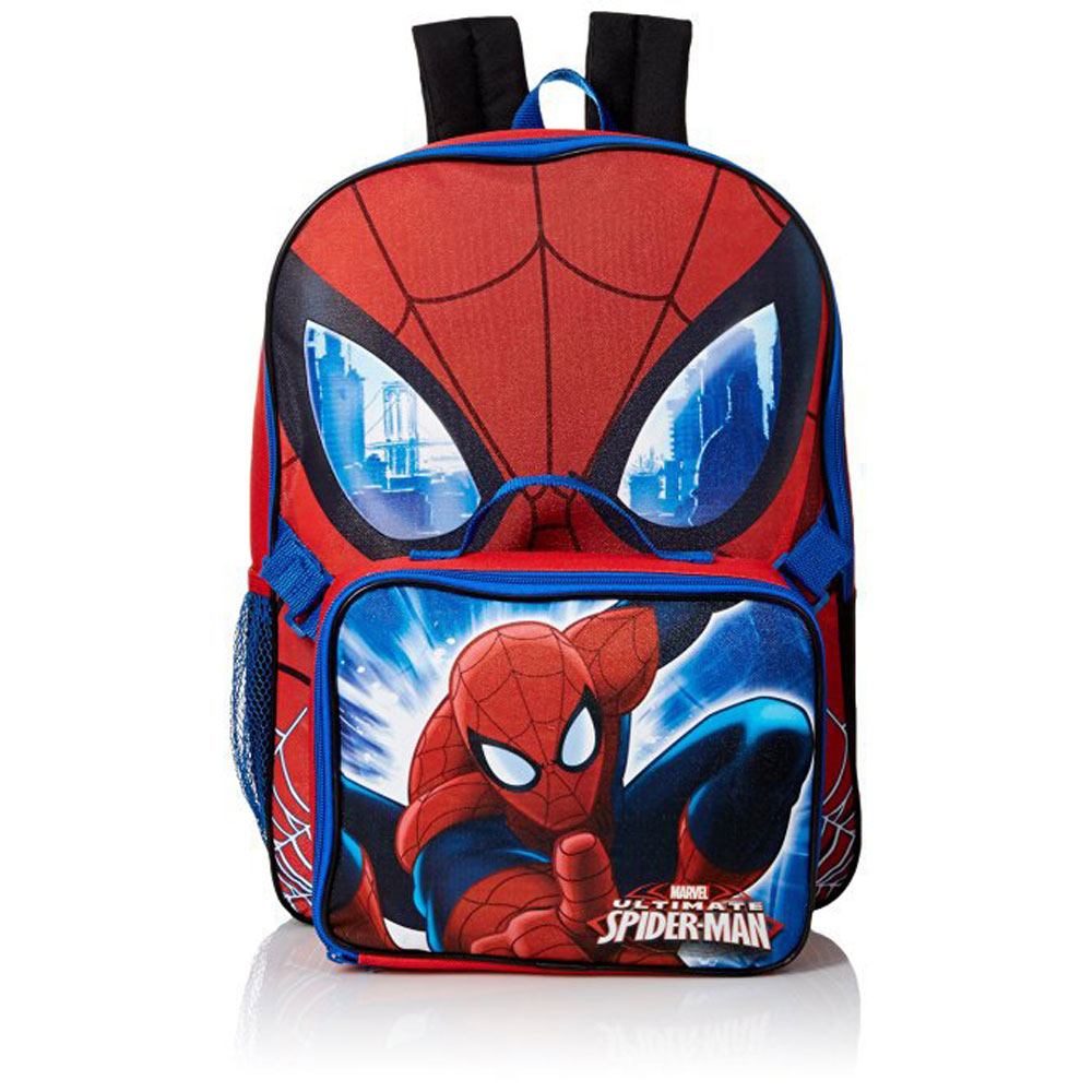GDC Marvel Boys' Spiderman 16 in Backpack With Lunch Kit