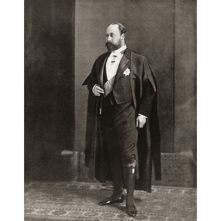 Posterazzi Albert Edward Prince of Wales future Edward VII 1841 Canvas Art - Ken Welsh Design Pics (26 x 34)
