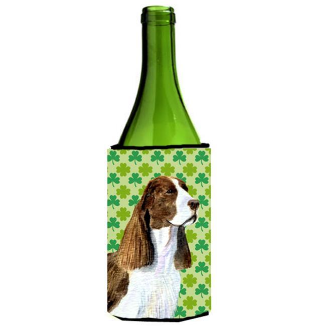 Carolines Treasures SS4444LITERK Springer Spaniel St. Patricks Day Shamrock Wine bottle sleeve Hugger - 24 oz. - image 1 de 1