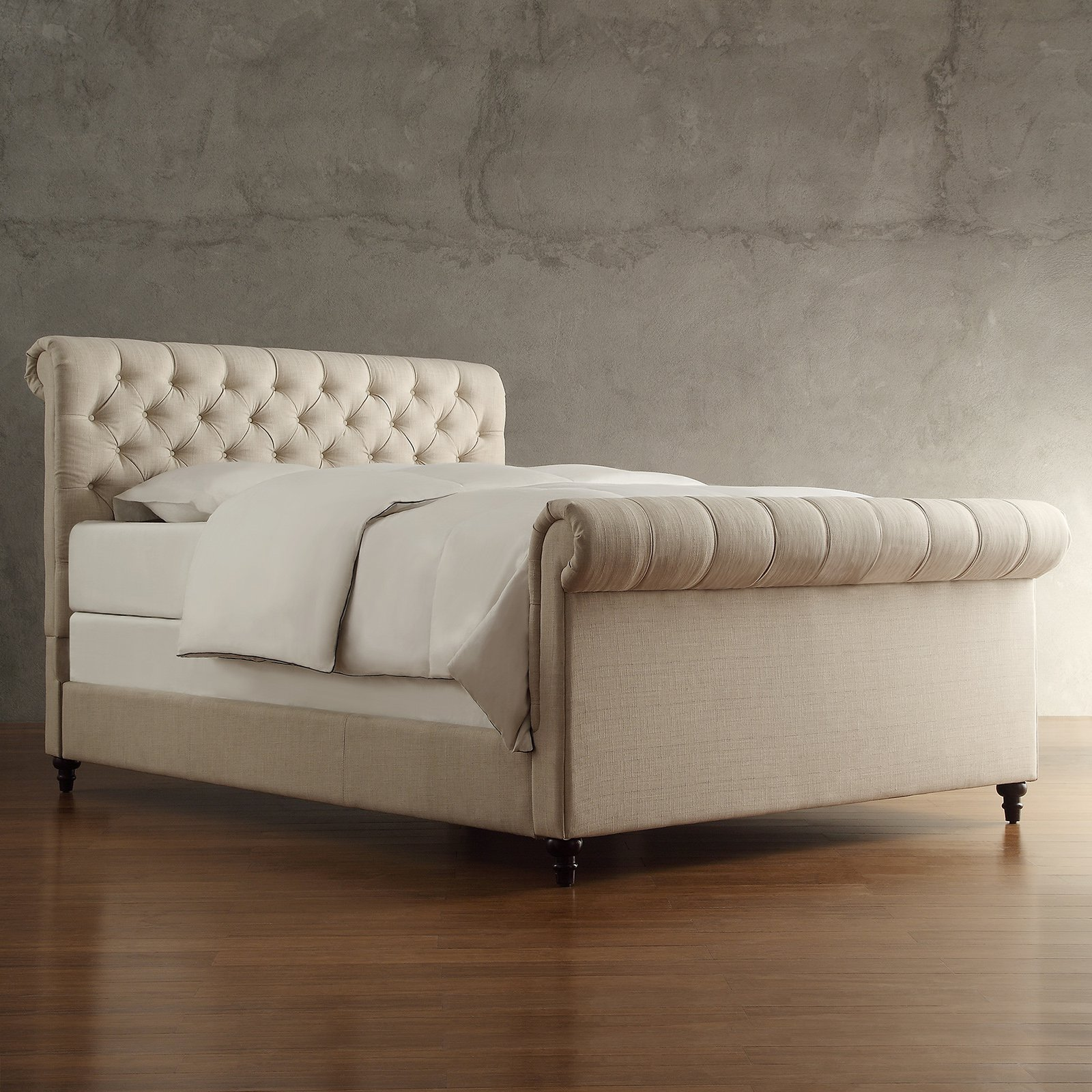- Weston Home Ellesmere Tufted Upholstered Sleigh Bed - Walmart.com