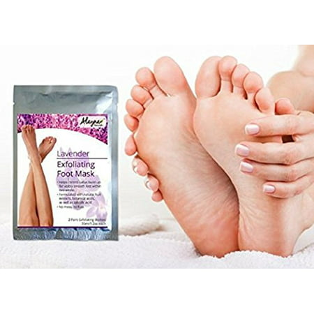 Alayna (TM) Deep Foot Peel Exfoliating Mask - Natural Lavender Scent 2 Pairs - Best Exfoliating Hard & Dead Skin, Callus Peeling Mask for