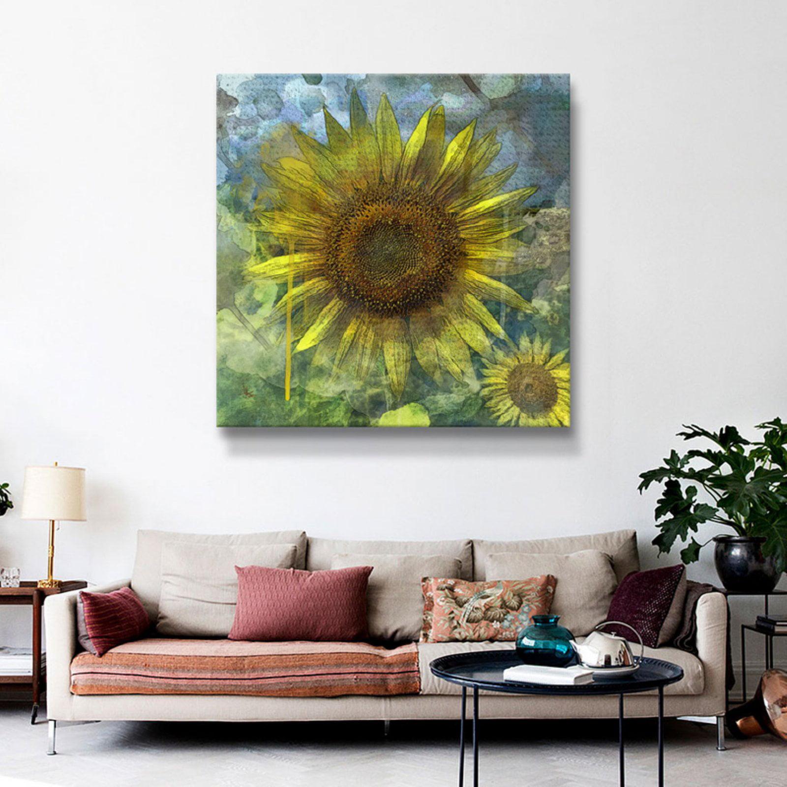 Brushstone Sunflower for Alicia by Scott Medwetz Removable Wall Art Mural