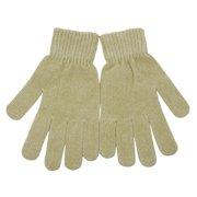 Women Khaki Super Soft Ribbed Cuffs Winter Gloves