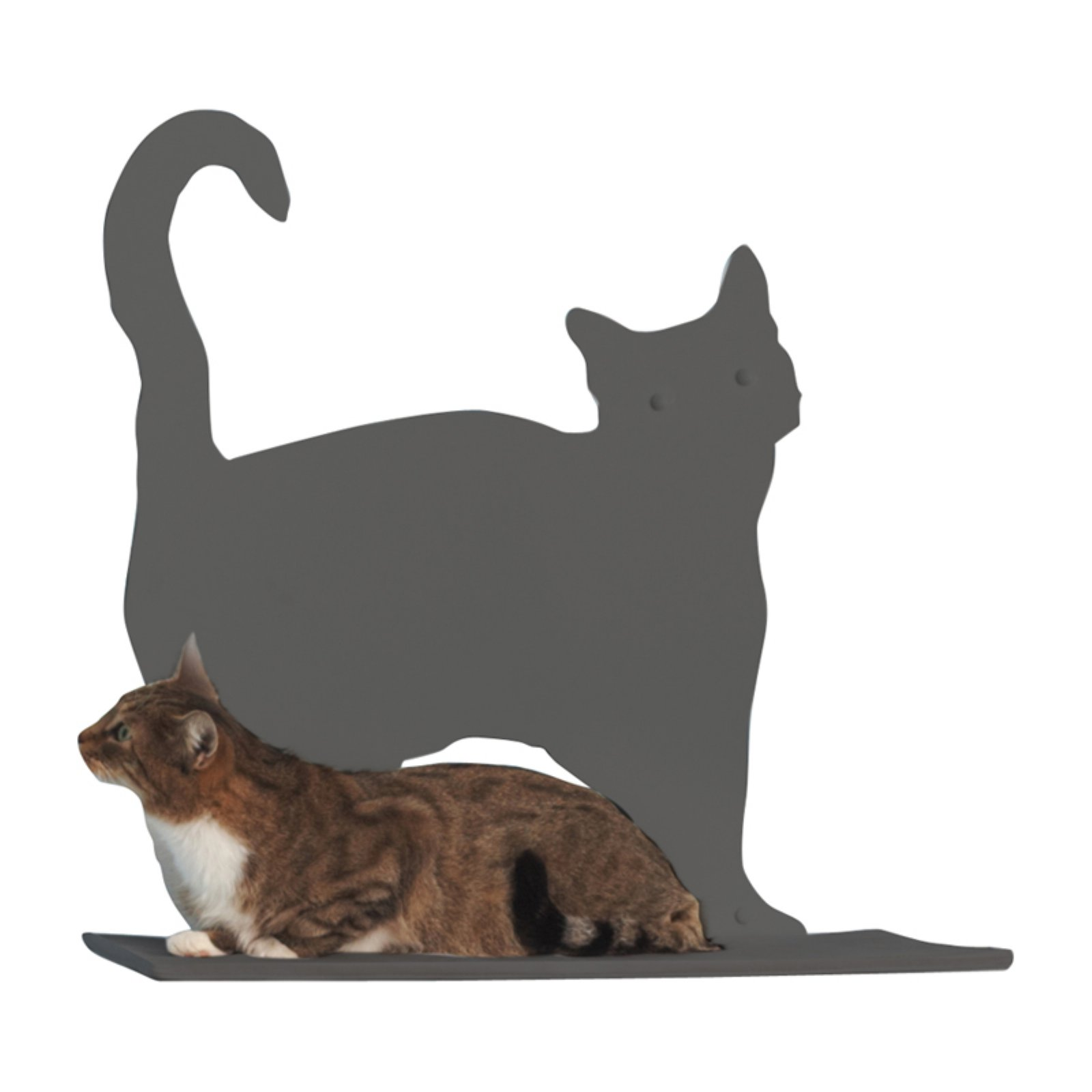 Refined Feline Cat Silhouette Cat Shelf Prance