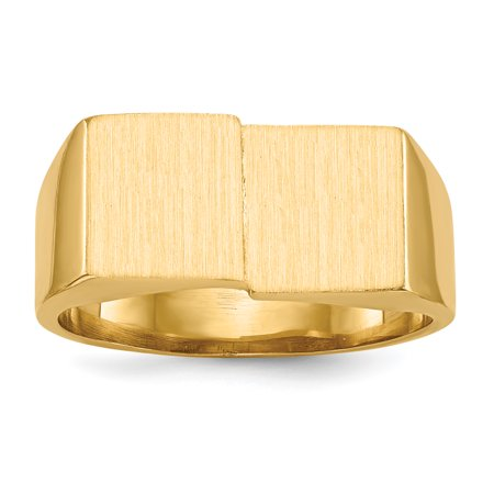 14k Yellow Gold 10.0x17.0mm Mens Signet Band Ring Size 10.00 Man Gift For Dad Mens For Him