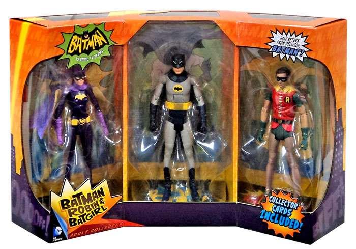 Batman 1966 Tv Series Batman Batgirl Robin Exclusive Action Figure 3 Pack Walmart Com