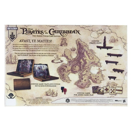 Disney Parks Theme Park Edition Pirates of the Caribbean Battleship Game New - Beach Themed Games