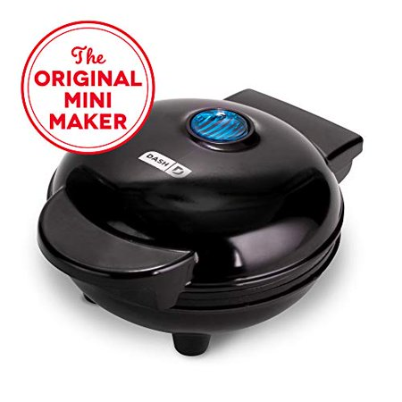 Dash DMG001BK Mini Maker Portable Grill Machine + Panini Press for Gourmet Burgers, Sandwiches, Chicken + Other On the Go Breakfast, Lunch, or Snacks with Recipe Guide - Black