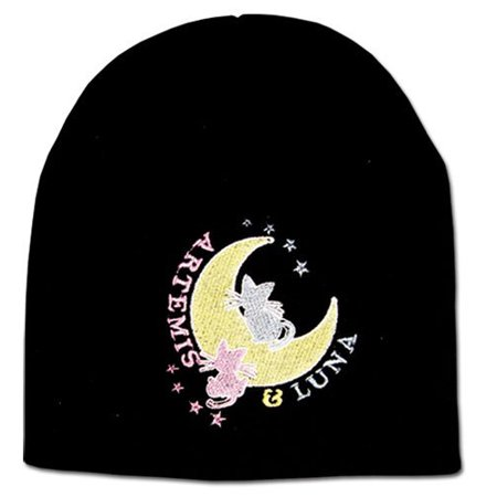 Sailor Moon Artemis & Luna Beanie, Fully Licensed By Great Eastern Entertainment (Luna Sailor Moon Halloween)