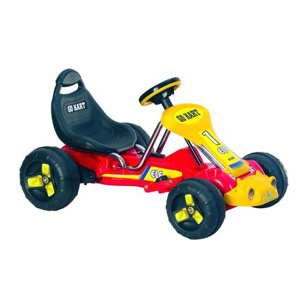 Ride On Toy Go Kart, Battery Powered Ride On Toy by Hey! Play! – Ride On Toys for Boys and Girls, For 3 – 5 Year Olds (Red) - 1 Year Old Outdoor Toys