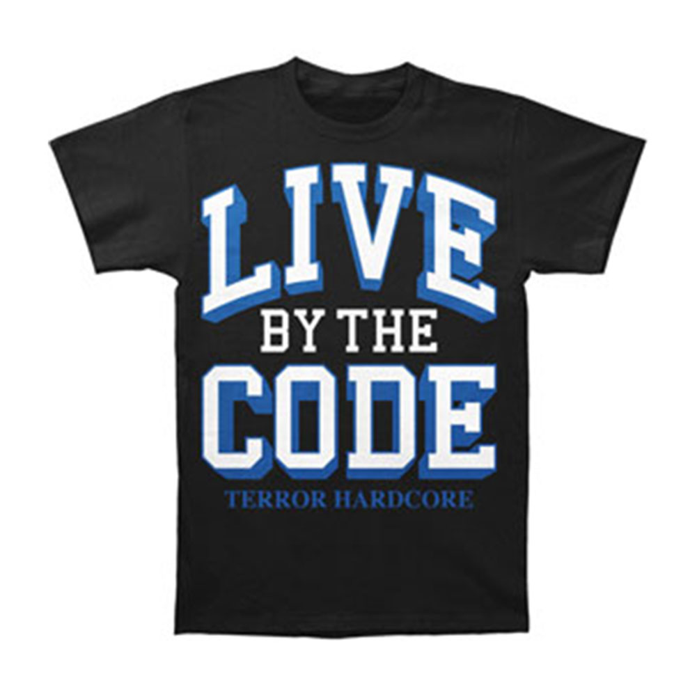 Terror Men's  Live By The Code Black T-shirt Black