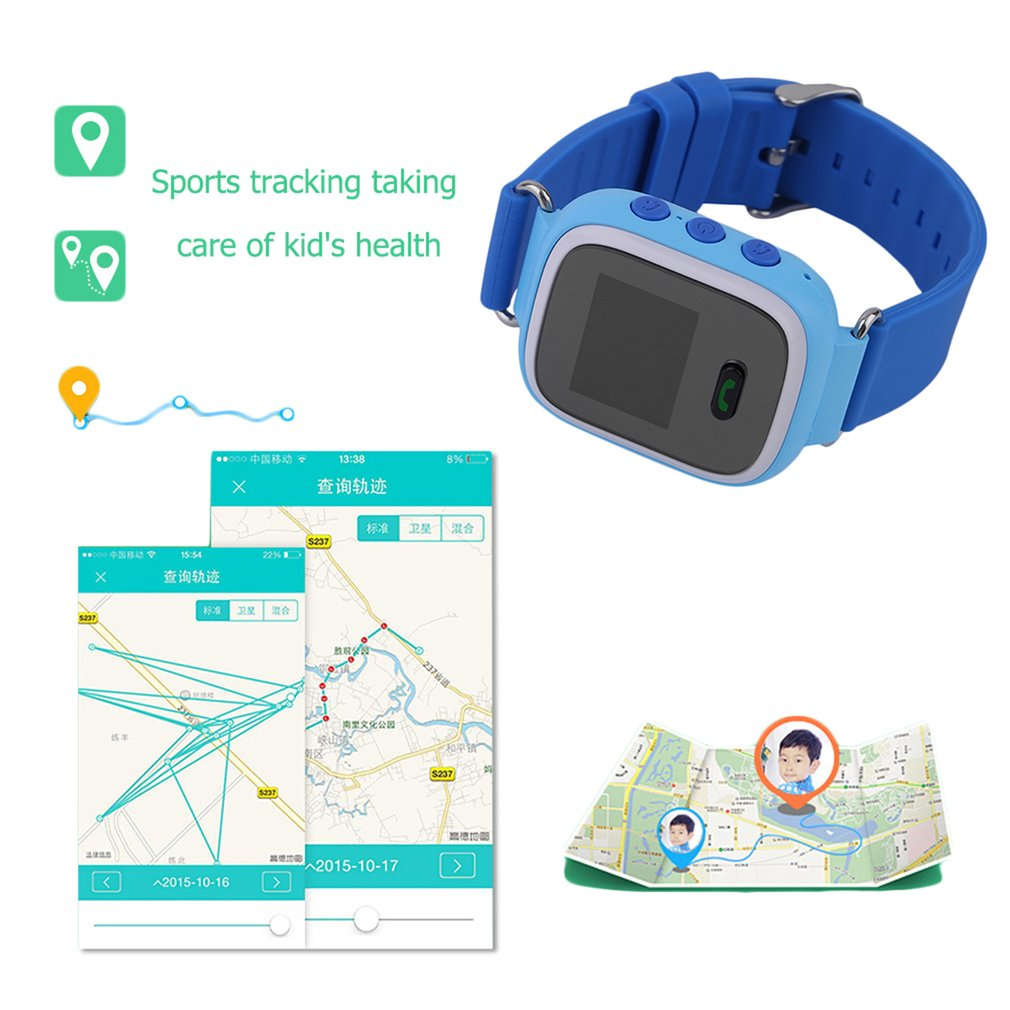 Comfortable GPS Tracker Locator SOS Alarm Children Security Kids Anti-Lost Step Counter Smart Watches Great Gift Q60